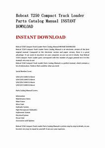 Bobcat T250 Compact Track Loader Parts Catalog Manual Instant Download By Jfhnn Mkjnd