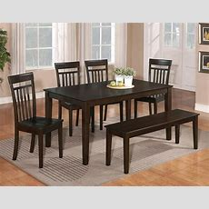 6 Pc Dinette Kitchen Dining Room Set Table W4 Wood Chair