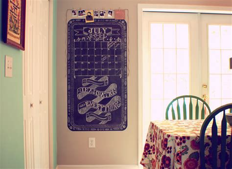 pocketful  pretty kitchen chalkboard wall