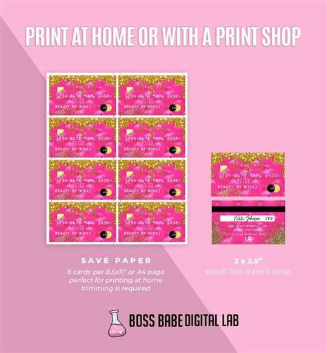 diy pink  gold credit card business cards gold glitter