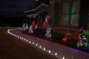 led outdoor christmas lighting traditional landscape With outdoor christmas lights for walkway