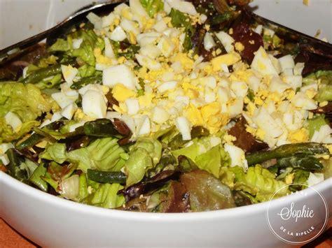 cuisiner haricot plat salade verte aux haricots verts et oeufs la tendresse en
