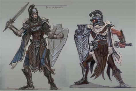 Imperial Armor Concept Art From The Elder Scrolls V