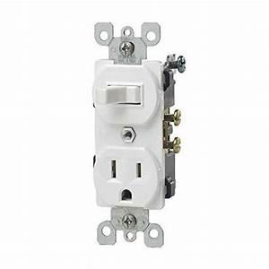 Leviton 5225w Single Pole Duplex Combination Switch
