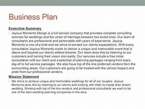 Business Plan For Wedding Planner Writersgroup749web