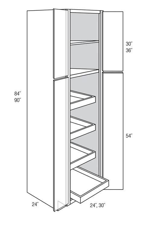 Roll Out Kitchen Pantry Cabinet by Essex Pantry Cabinets With Rollout Trays