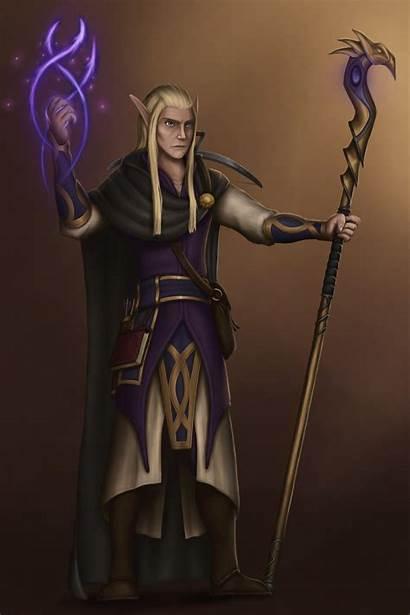 Wizard Elven Oc Dnd Friends Drawing Friend