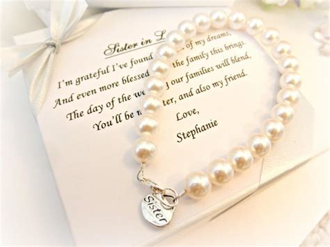 Sister Pearl Strand Bracelet, Sister In Law Bridesmaid Attendant Wedding Gift For Sister Fine Wine Gift Set Dairy Queen  Cards List Of Gifts For 3 Year Old Boy Outdoor Toys 9 Uk The Holy Spirit Scripture Chemo And Radiation Patients Brother In Law Return 10 Yr Girl
