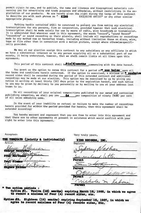 recording contract them the original torquays quot the band that started cincy rockin quot