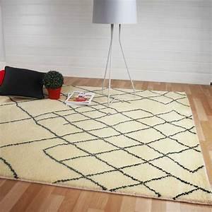 Tapis Berbere Laine : tapis moderne motifs berb res beige en laine ~ Teatrodelosmanantiales.com Idées de Décoration
