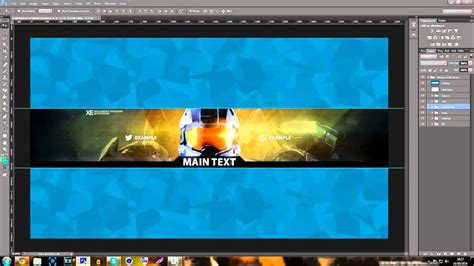 youtube banner template halo  guardians  psd