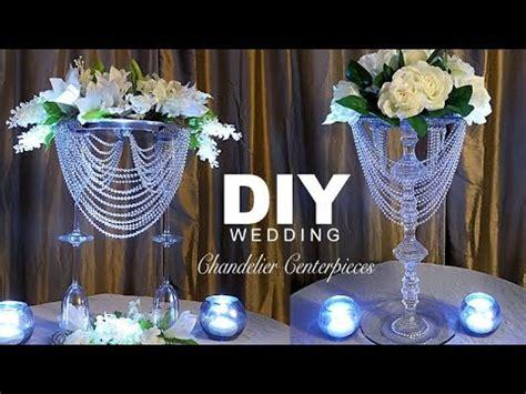 chandelier centerpiece wedding diy wedding chandelier centerpiece