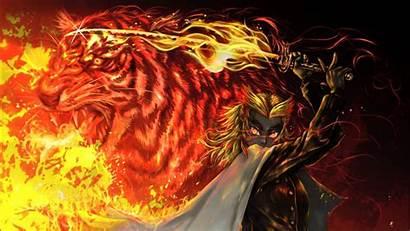 Rengoku Kyojuro Slayer Demon Anime Fire Yaiba