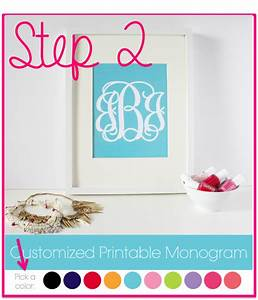 How to make monogrammed stickers the monogrammed life for Printable monograms
