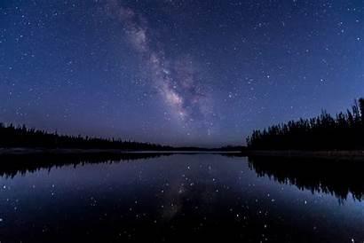 Sky Starry Night Stars Wallpapers Wallhere