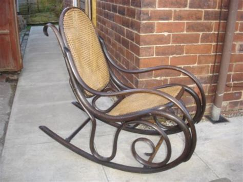 Antique Thonet Bentwood Rocking Chair Armchair