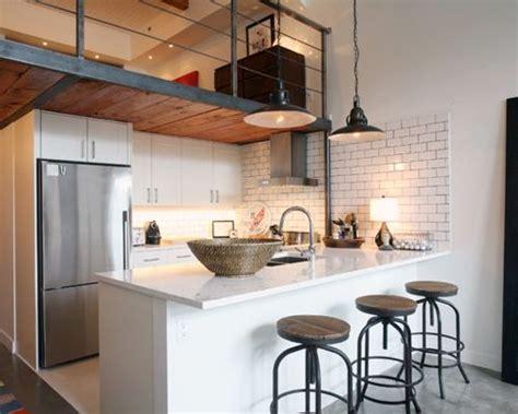 loft kitchen design ideas loft kitchen houzz 7148