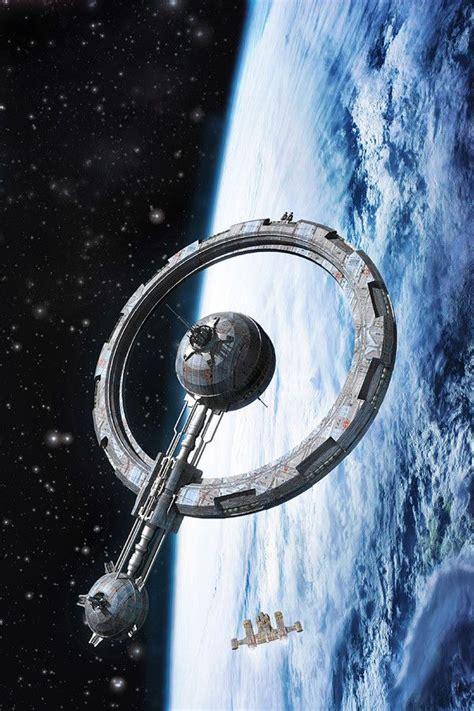 Ring Station, Luca Oleastri | Space fantasy, Spaceship art ...