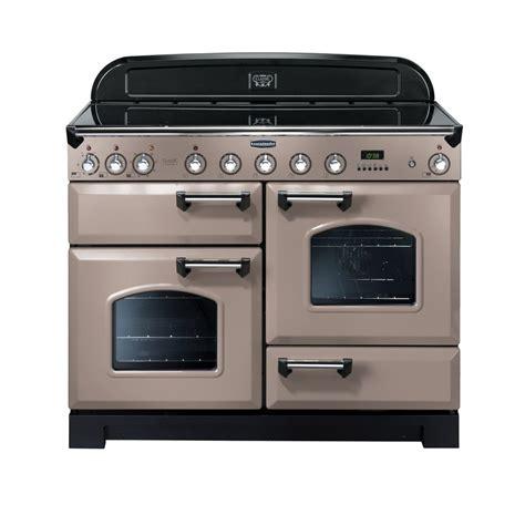 stoves induction range cooker rangemaster classic 110 deluxe electric induction range cooker latte