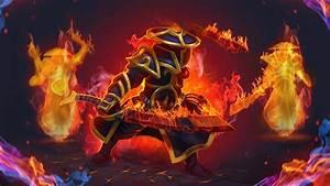 Dota 2 Character Game Ember Spirit Flame Guard Sword