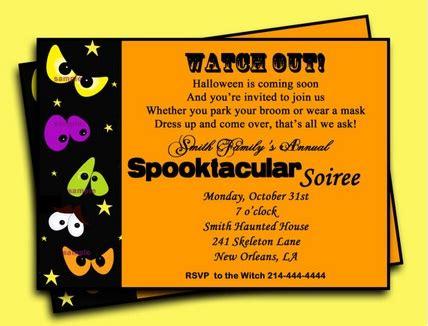 Halloween Party Invitation Wording Easyday