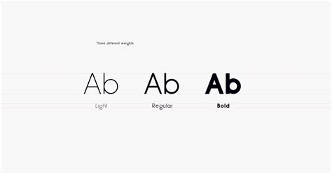 sans minimal typeface