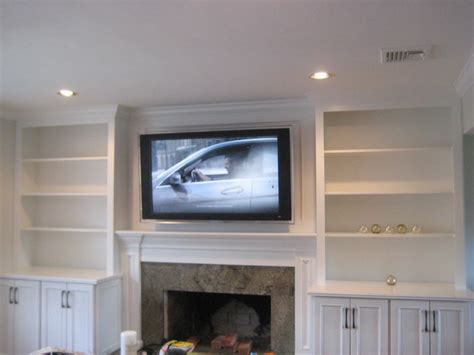 kitchen cabinets and shelves built in low media cabinet transitional room leslie 5906