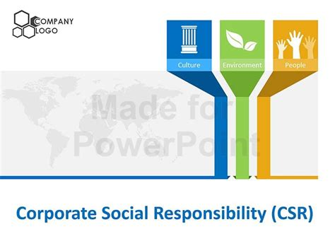 corporate powerpoint templates corporate social responsibility csr editable powerpoint template