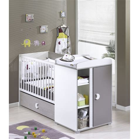 lit transformable bebe pas cher sauthon meubles lit b 233 b 233 chambre transformable 60 x120 cm india