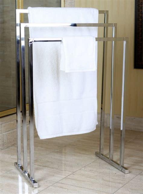 standing towel rack ideas  pinterest