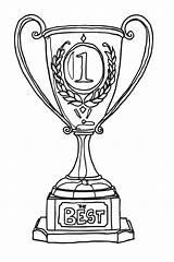 Coloring Beaker Trophy Drawing sketch template