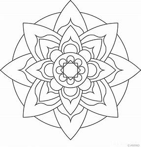 Flower Mandala Coloring Pages - AZ Coloring Pages
