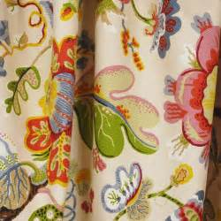 wonderland pearl jacobean floral upholstery fabric by the