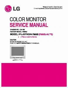 Lg Service Manual Monitor Lg F900 Pdf Diagramas De