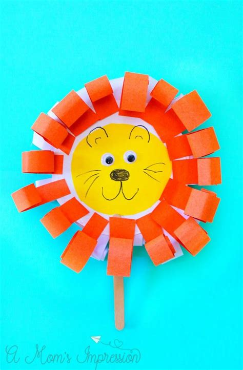 easy  adorable paper plate march lion  lamb craft