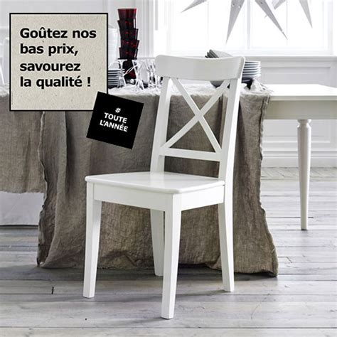 chaises blanches ikea chaises ikea