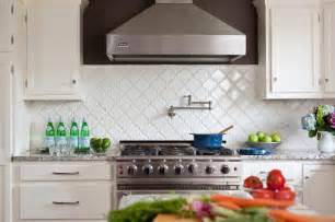 White Kitchen Backsplash Tile Arabesque Tile
