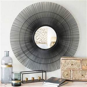 mirrors wall decoration maisons du monde With miroir rond metal