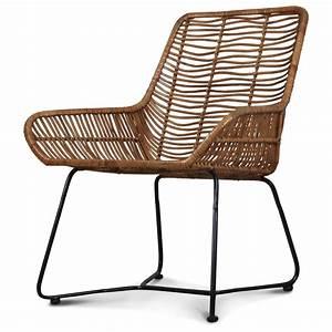 Fauteuil Rotin Design : fauteuil design metal et rotin malaka demeure et jardin ~ Nature-et-papiers.com Idées de Décoration