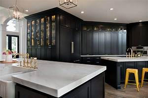 Transitional, Dark, Blue, Painted, Cabinets