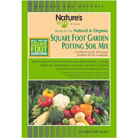 1 5 cu ft square foot gardening potting soil mix nw