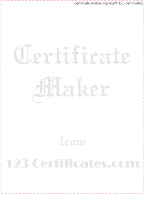 watermark  images gift certificate template