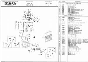 Parts Diagram For Dellorto Si20d - Si24e  G Carburetors - Dellorto Carburetors - Topics