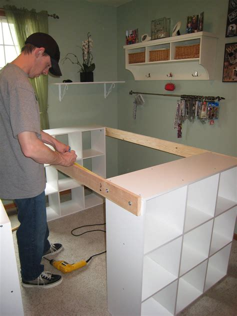 bureau de travail ikea do it yourself white craft desk how to build a custom