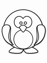 Penguin Coloring Pages Preschool Penguins Clipart Printable Printables Panda sketch template