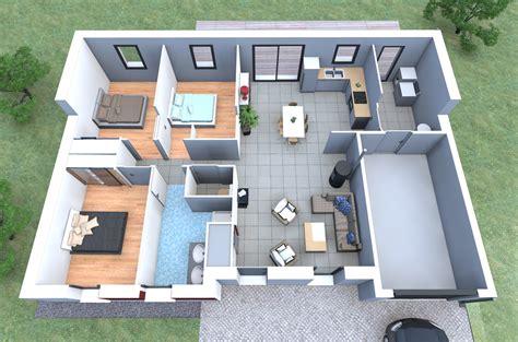 plan 3d chambre plan de maison moderne 3 chambres 3d maison moderne