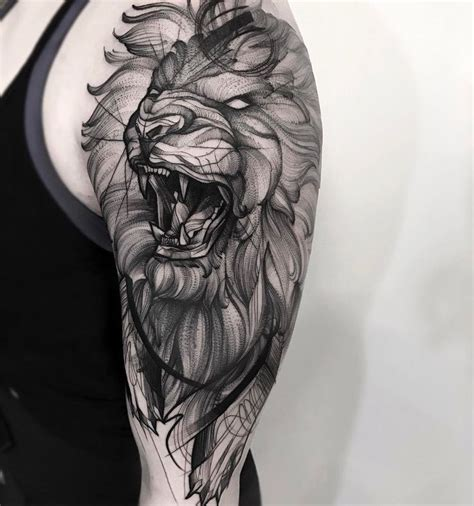ideas  lion tattoo sleeves  pinterest
