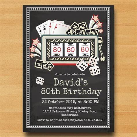 casino vintage invitation slot machine birthday party