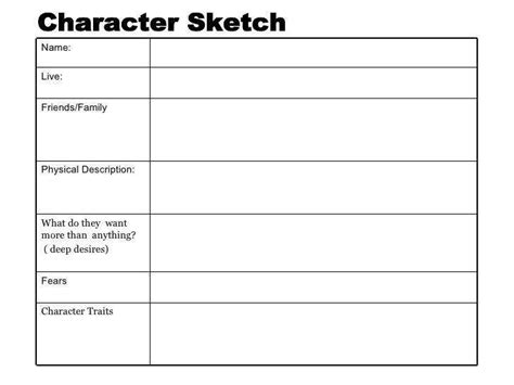 Characterization Worksheet Homeschooldressagecom