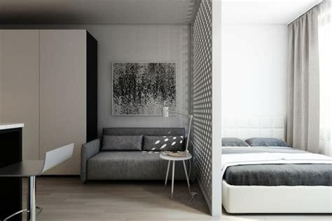 separation salon chambre déco studio et petit appartement 4 exemples remarquables